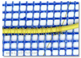 Stitch-Attached heavy gauge wire on plastic net
